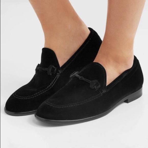 Jimmy Choo Marti Black Velvet Loafers W